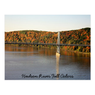 Cartão Postal IMG_1493, cores da queda do Rio Hudson