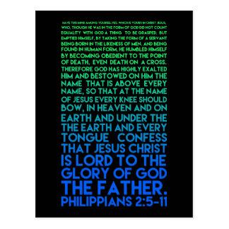 Cartão Postal Imite o 2:5 dos Philippians da humildade do cristo