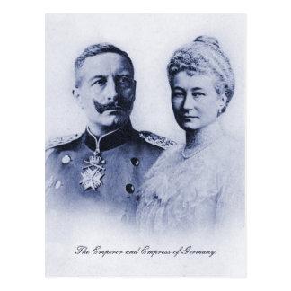 Cartão Postal Imperador do vintage e imperatriz de Alemanha