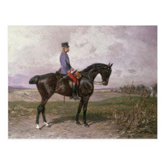 Cartão Postal Imperador Franz Joseph mim em seu cavalo austríaco