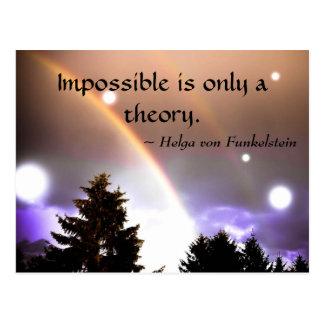 Cartão Postal Impossível é somente uma inspiração da motivação