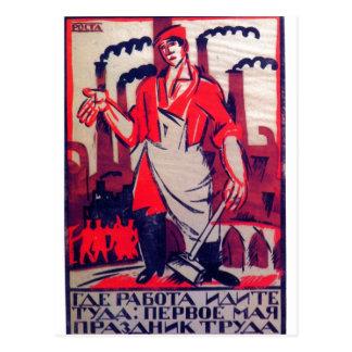 Cartão Postal Impressão 1920 da propaganda do russo de Ivan