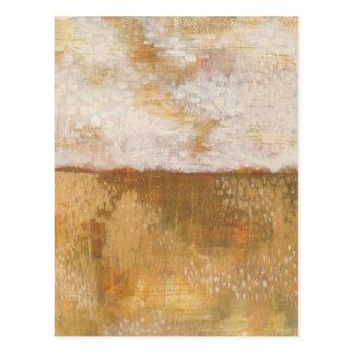 Cartão Postal Impressão ambarino | Melissa Averinos do abstrato
