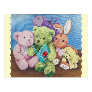 Cartão Postal Impressão animal da arte do tempo do círculo do