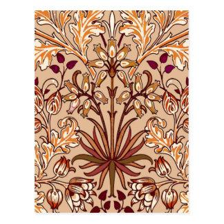 Cartão Postal Impressão, Brown e bege do jacinto de William