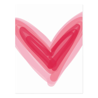 Cartão Postal Impressão cor-de-rosa bonito do coração, amor