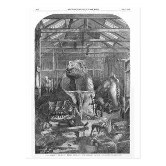 Cartão Postal Impressão da antiguidade do estúdio de Hawkins do