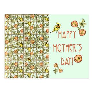 Cartão Postal Impressão de William Morris do feliz dia das mães