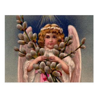 Cartão Postal Impressão do anjo do vintage