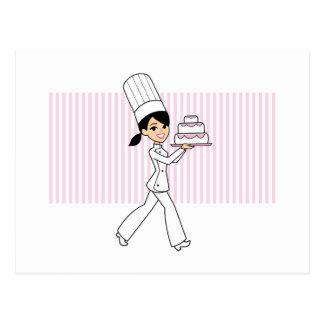 Cartão Postal Impressão do cozinheiro chefe da menina