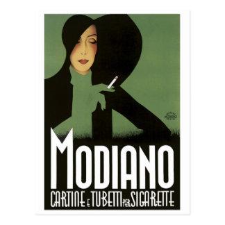 Cartão Postal Impressão do poster da arte de Cigarrette do