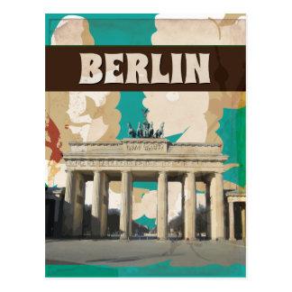 Cartão Postal Impressão do poster de viagens de Berlim do