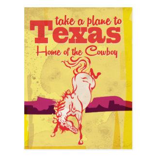 Cartão Postal Impressão do poster de viagens de Texas do vintage