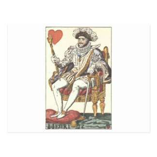 Cartão Postal Impressão do vintage do REI CORAÇÃO - do HENRI IV