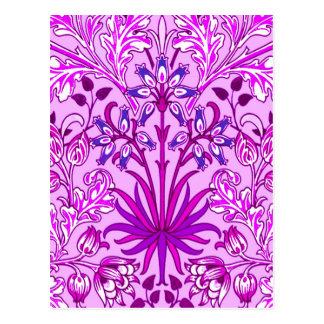 Cartão Postal Impressão, lavanda e violeta do jacinto de William