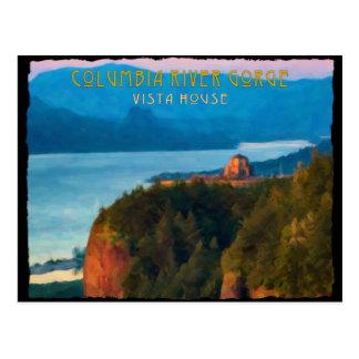 Cartão Postal Impressão retro do desfiladeiro do Rio Columbia e
