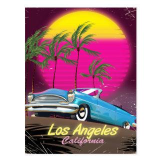 Cartão Postal Impressão retro do viagem dos anos 80 de Los