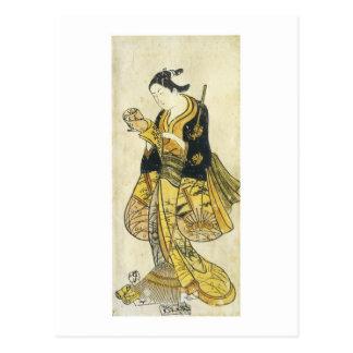 Cartão Postal Impressões 1730 da arte da escola de Torii da