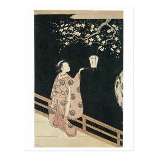 Cartão Postal Impressões 1760 da arte da flor da ameixa de