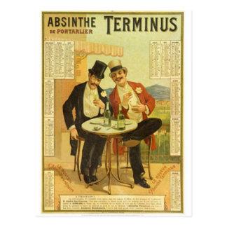 Cartão Postal Impressões dos anúncios do álcool do vintage