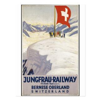 Cartão Postal Impressões retros do anúncio do poster das viagens