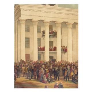 Cartão Postal Inauguração da guerra civil americana de Jefferson