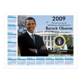 Cartão Postal Inauguração de Obama - calendário 2009 da
