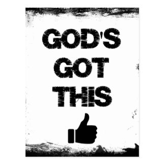 Cartão Postal Incentivo: Deus obtido isto