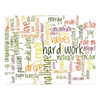 Cartão Postal Incentivo inspirador do positivo das palavras #2