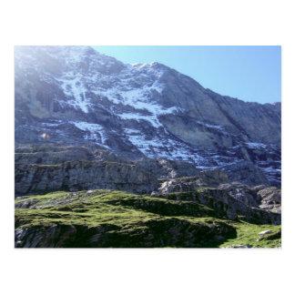 Cartão Postal Inclinações altas na região de Jungfrau