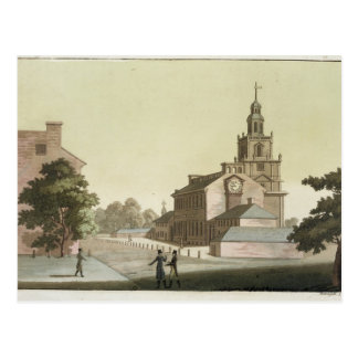 Cartão Postal Independência Salão, Philadelphfia, Pensilvânia,