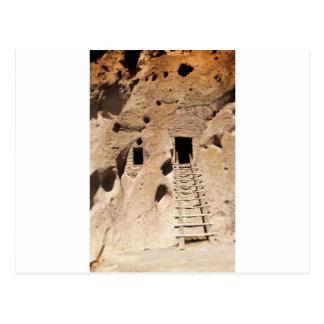 Cartão Postal Indiano antigo dos Petroglyphs de Bandelier New
