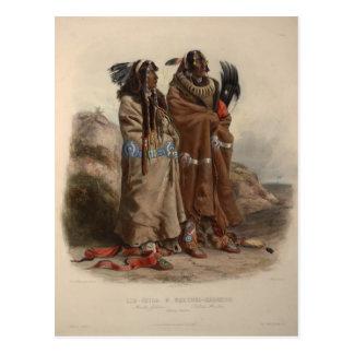 Cartão Postal Indianos de Karl Bodmer- Mandan