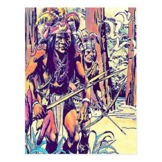 cartão postal índio
