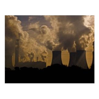 Cartão Postal Indústria que polui a atmosfera