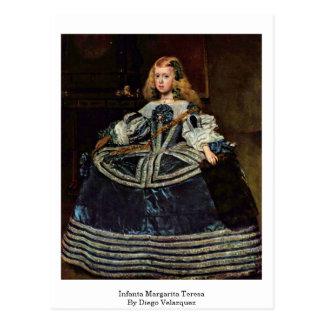 Cartão Postal Infanta Margarita Teresa por Diego Velázquez