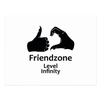 Cartão Postal Infinidade nivelada de Friendzone da ilustração