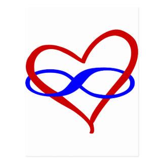 Cartão Postal Infinidade poli do coração