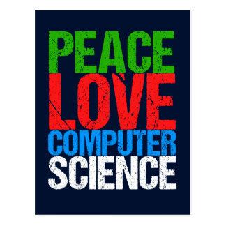 Cartão Postal Informática do amor da paz