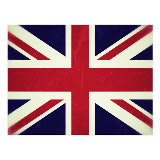 Cartão Postal Inglaterra Bandeira Grunged