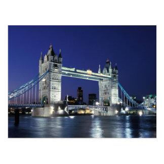 Cartão Postal Inglaterra, Londres, ponte 3 da torre