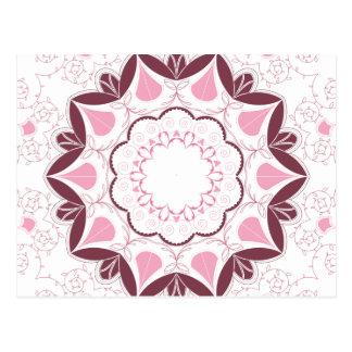 Cartão Postal Inicial Customisable do impressão cor-de-rosa