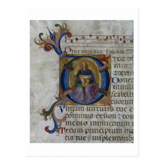 """Cartão Postal Inicial """"D"""" da Senhora 531 f.169v Historiated que"""