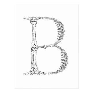 Cartão Postal Inicial do osso da letra B