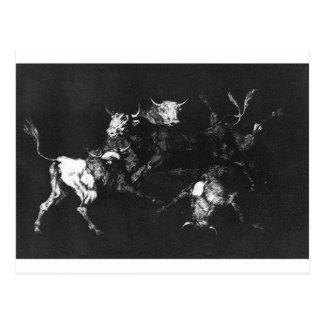 Cartão Postal Insensatez dos tolos por Francisco Goya