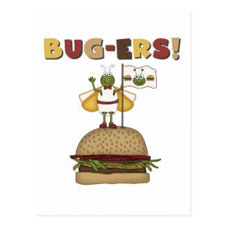 Cartão Postal Insetos e camiseta e presentes dos hamburgueres