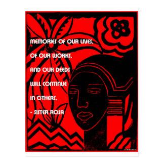 Cartão Postal Inspiração da irmã Rosa