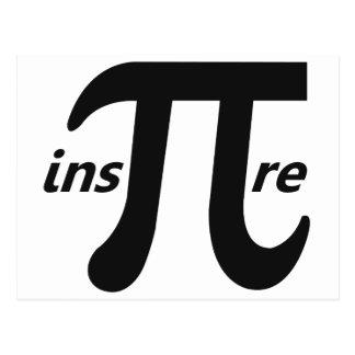 Cartão Postal Inspire o símbolo inspirado do Pi