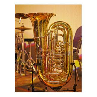 Cartão Postal Instrumento de bronze da tuba