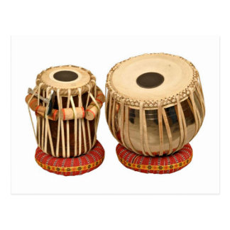 Cartão Postal Instrumento de percussão indiano ajustado bonito